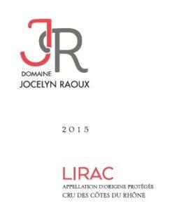 Fiche Technique Vin Rouge Lirac - Domaine Jocelyn Raoux